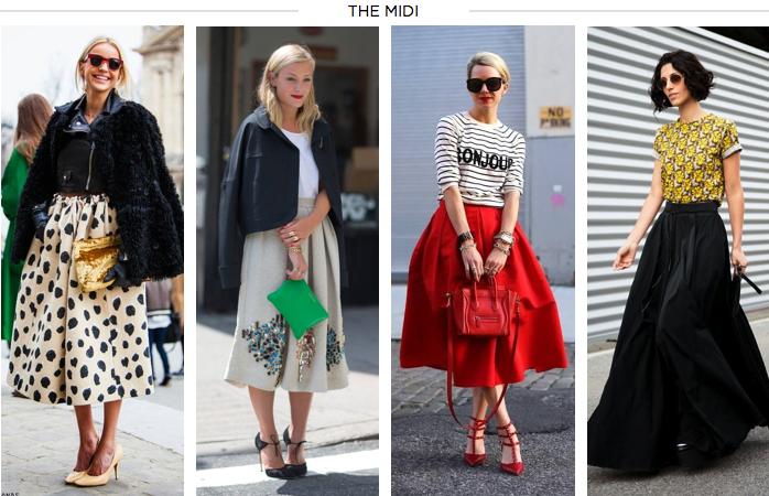 #TrendAlert Se alargan las faldas: el boom de la MIDI SKIRT