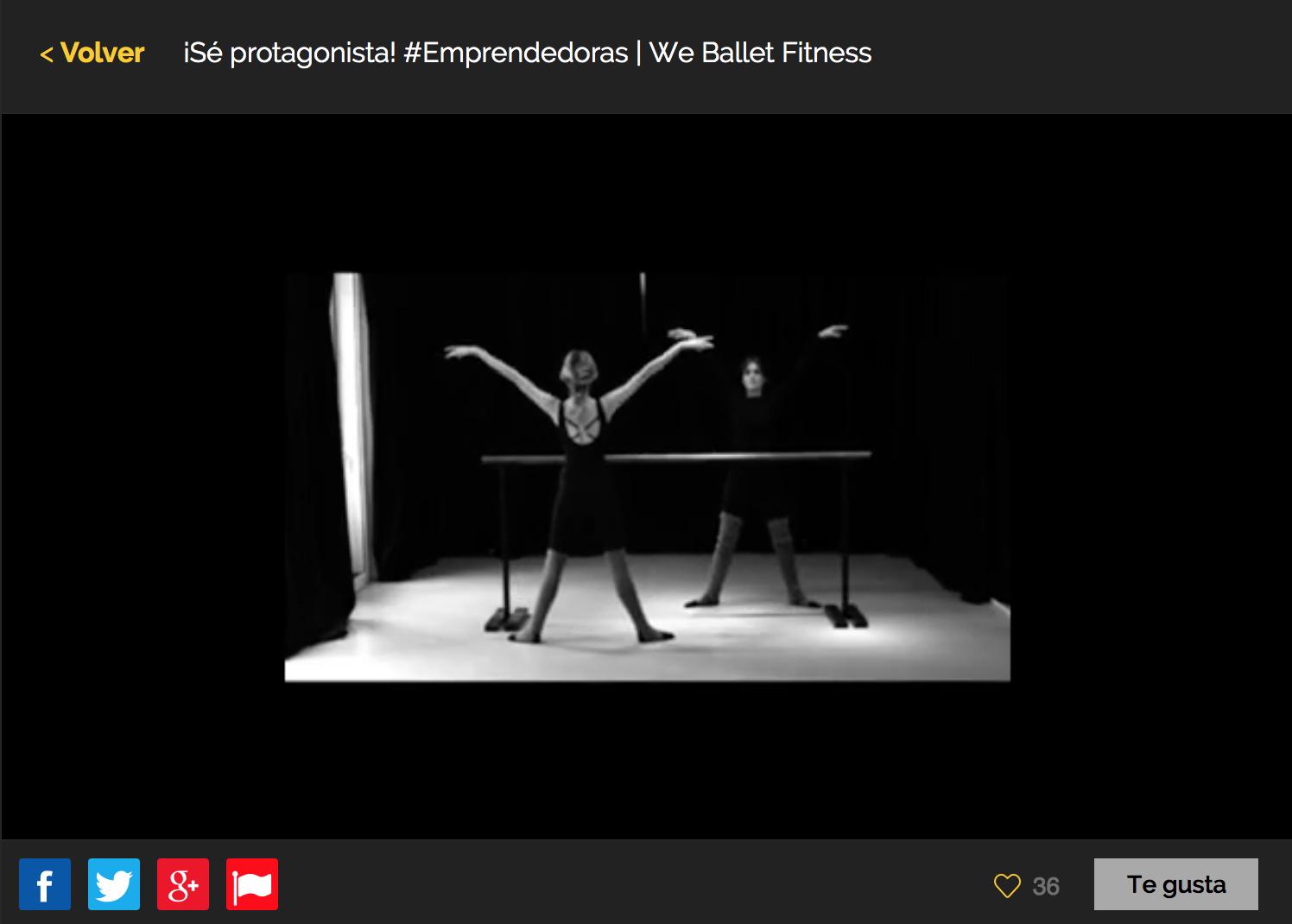 We Ballet Fitness & La vida continúa, finalistas en el Concurso de Mujeres #Emprendedoras