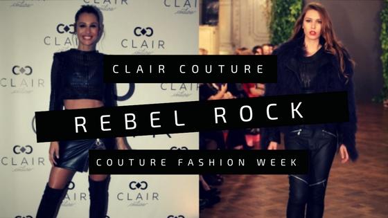 Pampita se anima al Rebel Rock de Clair Couture
