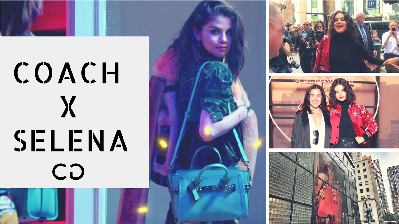 #CoachXSelena Selena Gómez en Coach NY