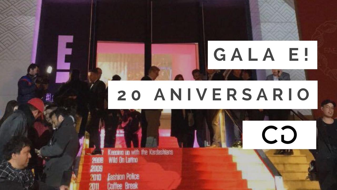 E! Entertainment celebró sus 20 años con una gran Gala en BA