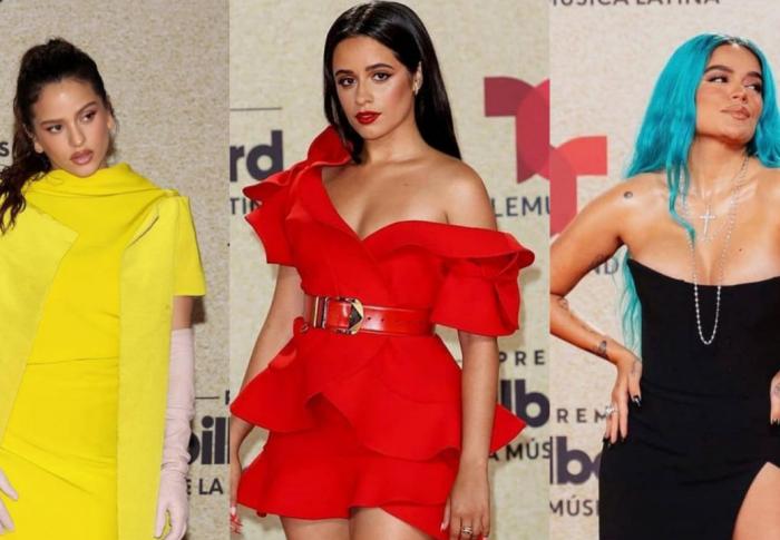 Los mejores looks de los Billboard Latin Music Awards 2021, Camila Cabello, Karol G y Rosalía deslumbraron en alta costura