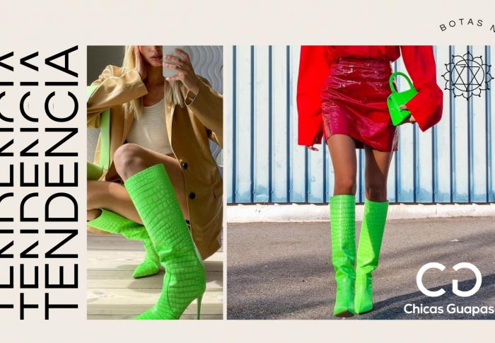Las fabulosas botas verde neón que se viralizan en Instagram y encienden la nueva tendencia